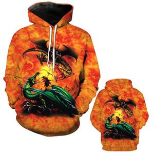 Outono e Inverno dos homens de Roupas 3D Impressão Digital de Bolso Com Capuz Moletom Com Capuz Casuais Mens Designer Hoodies Moda Hipster Com Capuz Camisola