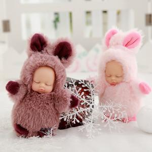 Bebê acompanham dormir calmante boneca boneca dormir chave fivela presente Presente bonito empresa brinquedos pingente infantil