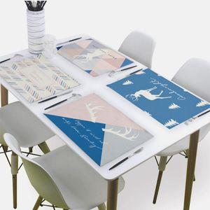 북유럽 블루 냅킨 테이블 냅킨 천 홈 43 * 32CM 수건 리넨 냅킨 부엌 테이블 매트 Servilletas