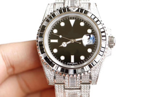 Diamond watch 904L 40mm one-way rotation outer ring 3135 automatic mechanical movement watches calendar display designer watches