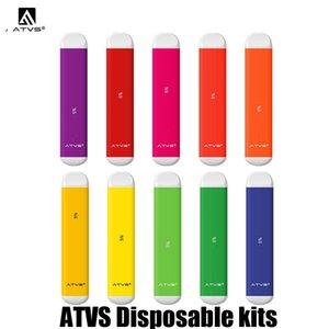100% original ATVS desechable Pod Dispositivo Dispositivo 350mAh Vape palillo de la pluma con 1,8 ml precargada 10 colores genuinos