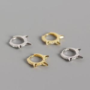 925 Sterling Sliver minúsculo Huggie Hoop Brincos para Mulheres pequeno Helix cartilagem Brincos minimalistas Pico Huggies
