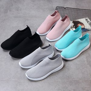 Fashion2019 Vontade 35-43 Tide Xia Pingdi Voar Tecido Meias Força Elástica Pano Movimento Único Sapato