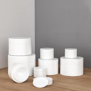 Kozmetik Kavanoz Beyaz Plastik Kavanoz Boş BPA Ücretsiz Yuvarlak Kavanoz Şişe Yüz Kremi Losyon Plastik Beyaz Iç Astar ile Konteyner