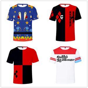 Las aves de presa de película camiseta divertida de los hombres de las mujeres más del tamaño camiseta Harley Quinn payaso 3D Imprimir camiseta deportiva con capucha T Tops