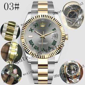 17 colori Datejust 18K Mens Watch Luxury 41 millimetri impermeabile Orologi Uomo 2813 meccanico automatico presidente Desinger Giubileo Banda