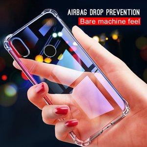 Phone Case For Xiaomi Redmi Note 5 6 7 Pro 7 6 Pro 6A 5 Plus Transparent Crystal Airbag Cover for Xiaomi mi 9 8 se A1 A2 lite F1
