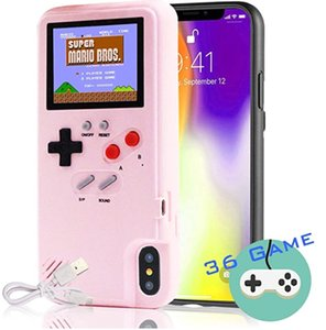 Autbye Gameboy Case For iPhone 11pro Phone Case Phone Option Color Control Video Game Silicone Case For iphone 6 7 8plus