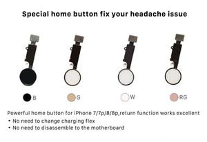 Universal Home Button Flex Per iPhone 7 7p 7G 7plus 8G 8 8p 8plus Soluzione di ritorno Impronta digitale di sblocco Problema Touch ID tattile