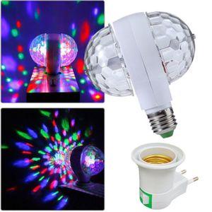 핫 새로운 3W E27 RGB 수정 구슬 회전 LED 무대 조명 전구 디스코 파티 DJ 전구 램프