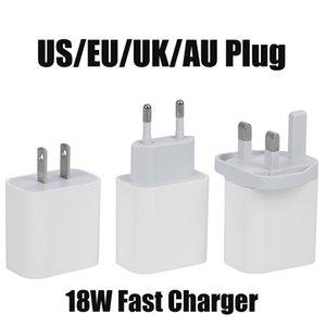 USB Duvar Şarj 18W Güç Dağıtım PD Hızlı Şarj Adaptörü TİP C Şarj ABD UK AB AU Tak Hızlı Samsung smatphone için Şarj