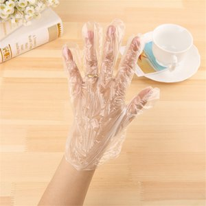 100Pcs Disposable Plastic Glove Clear Antifouling Gloves Dustproof Gloves Food Gloves for Industrial Restaurant Cleaning