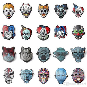 Звуковая реактивная светодиодная маска мода прохладный свет Маска звуковая управляемая люминесцентная Маска светодиодная вспышка цветные маски освещение T3I5101