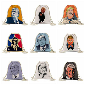 Bag storage Trump Disegna Rope sacchetto US Presidential Election Trump ha stampato i sacchetti all'aperto Zaino coulisse Pocket Bag FoldableStorage DHF373
