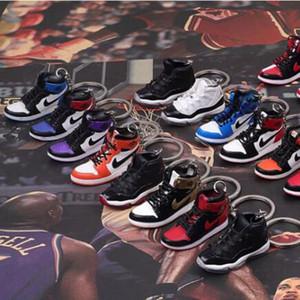 3D Sneaker Schuhe Schlüsselanhänger Joint Co-Branded Schlüsselanhänger Schlüsselanhänger Zugeständnisse Zubehör für Taschen Handy Rucksack 19 Farben