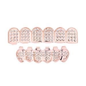 الهيب هوب مجوهرات 6 أعلى أسفل الأسنان كاذبة الأسنان غريلز مجموعة نتوء شعرية مشاوي الأسنان مجوهرات الجسم الأسنان غريلز