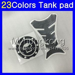 Fibra de Carbono 3D tanque Pad Para HONDA VFR800 Interceptor 98 99 00 01 VFR 800 VFR800RR 1998 1999 2001 MY116 tanque de gás Cap Protector adesivo decalque