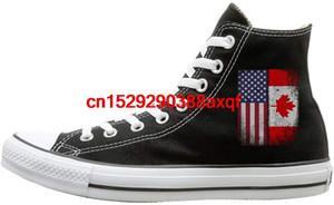Scarpe di tela Canadian American Flag Classics alte stringate scarpa da tennis per gli uomini donne