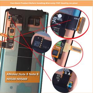 Lcd ملاحظة 8 n9500 n9500f n900d n900d عرض 100٪ اختبار العامل شاشة اللمس الجمعية لسامسونج غالاكسي note8 dhl