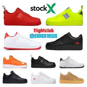 nike air force 1 Frauen Männer Schuhe supreme airforce forces one shoes 2020 Sup Black White mens womens Designer Shoes casual platform stockx sneakers Herren Damen Designer Schuhe