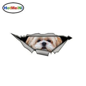 Großhandel Shih Tzu 3D-Auto-Aufkleber Funny Pet Dog Aufkleber Kreative Wasserdichte Auto-Styling Dekoration Modified