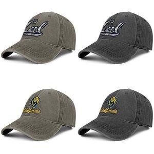 CALIFORNIA GOLDEN BEARS футбольный логотип унисекс джинсовая бейсболка прохладный спорт персонализированные стильные шляпы California Golden Bears серый