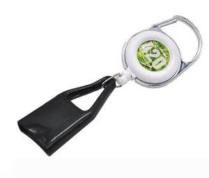 Lighter Leash Safe Stash Clip Retractable Keychain Smile Face Lighter Holder,Color and Pattern Send Randomly 90pcs