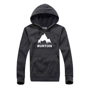 New Autumn Winter Burton Printed Hoodies Men Casual Fleece Long Sleeve Overcoat High Quality Male Hip Hop Pullover Sweatshirts
