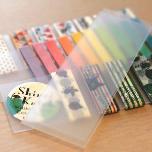 3pcs lot Portable Transparent PVC Board Masking Tape Washi Tape Sheet Subpackage Plate Package Planner Tool