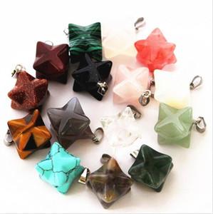 Новый прибыл натуральный камень Мелкаба кулон гексаграмма 20 * 13 мм мода ювелирные изделия ожерелье серьги делая оптом бренд MKI