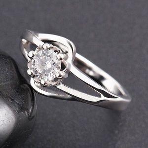 Anéis de casamento delicado Jóias coreano Moda Popular Ladies Anel com luxo Áustria Costume Crytsal Jóias Cubic Zirconia Gemstone Rings