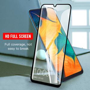 Samsung için tam Kapak temperli cam A71, A51 A21 A11 A70, A50, A10 MOTO E7 E5 Çal G7 Güç LG Stylo 6 5 K51 Ekran Koruyucu