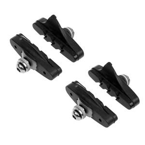 2 Pairs Mountain Road Folding bike Brake Pads Cycling Braking V-Brake Holder Shoes Rubber Blocks Durable Bicycle Accessorie 52mm