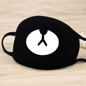 Algodón máscara de polvo de dibujos animados dientes expresión facial del respirador mufla Chanyeol anti Kpop oso Boca Máscara de plomo