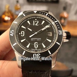 Nouveau 42mm Master Compressor Extreme Q2018470 2018470 cadran noir automatique des hommes montre en acier avec bracelet en cuir Sport Montres Hello_Watch