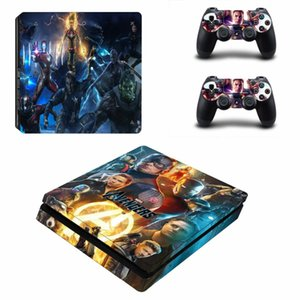 Avengers Endgame Captain America PS4 Slim Skin Sticker Decal for PlayStation 4 Console and 2 Controller Skin PS4 Slim Sticker