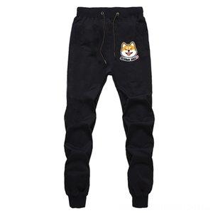Shiba inu cute Loose Breathable Cosplay Unisex abimal cartoon bottom Men's Pants Men's Clothing Cotton Sports Breathable Pants Sweatpants wi