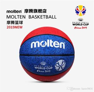 New Molten FIBA China 2019 da Copa do Mundo de basquetebol tamanho de basquete 7 padrão de Dragão Vermelho Azul B7C3300 PU Jogo bola de basquete