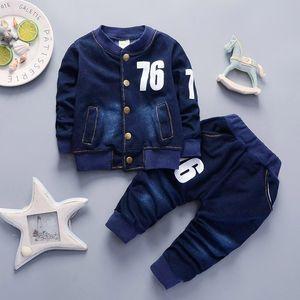 Cola baby boys conjuntos de ropa 2018 otoño primavera niños niños jeans ropa traje deportivo niños pequeños ropa casual chándal