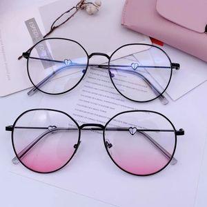 Großhandels-Nettes Anti blaues Licht Antiblockierfiltergläser Frauen Männer-Computerschutzbrillen Optische Sle Rose Gold Myopie Grad Brille