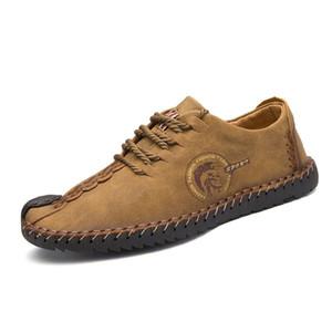 VANCAT Nuove dimensioni confortevoli Big 38-46 Casual Shoes Mocassini Scarpe Uomo Scarpe in pelle scamosciata degli appartamenti degli uomini Mocassini