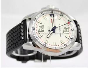 2018 venta caliente Miglia esfera blanca de acero inoxidable Mecanismo de relojería automático de los hombres del hombre reloj de pulsera deportivo correa de caucho
