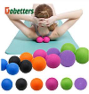 Amendoim TPE Massagem Bola Fascia corpo Relaxamento Yoga Exercício Aliviar aptidão Balls aliviar a dor muscular yoga bola de amendoim