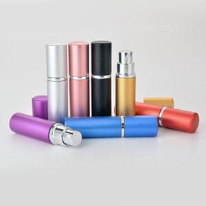Bottiglia di profumo di alluminio 5 ml Portatile ricaricabile di vetro per il profumo di vetro bottiglia di alluminio spruzzatore di alluminio estetica per flaconcino per profumo di profumo bottiglie di viaggio