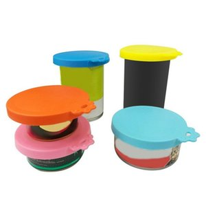 Silicone Pet Food Can Lid Seal Fresh Cover For Pets Food Reusable Dog Storage Top Cap Cat Dog Storage Can Covers Pet Supplies