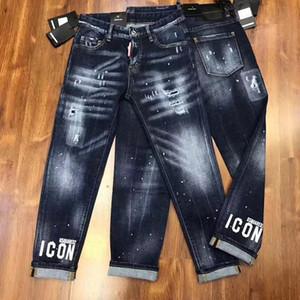 Design Lettre 2020 Mode femme Jeans milieu Fitting taille mince Skinny Jeans Femme Hiphop stretch Femme Crayon Pantalons Grande taille 26-30