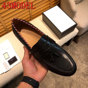 2020 US6-11 Autumn Men Dress Shoes Handmade British Style Paty Leather Wedding Shoes luxurious Men Flats Leather Oxfords Formal Shoes