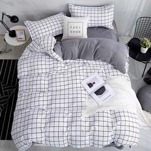 Bonenjoy Queen Size Bedding Set Colore Bianco Nero Plaid microfibra stampato reattivo king size set di biancheria da letto per i Kit Camera