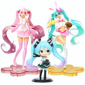 13-24cm Anime Hatsune Miku Sakura Action Figures Toys Miku Speelgoed Girls PVC Figure Model Toys CX200605