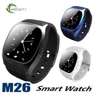 M26 smartwatch Wirelss Bluetooth Akıllı Seyretmek Telefon Bilezik Kamera Uzaktan Kumanda Anti-kayıp alarm IOS Android için Barometre V8 A1 U8 izle
